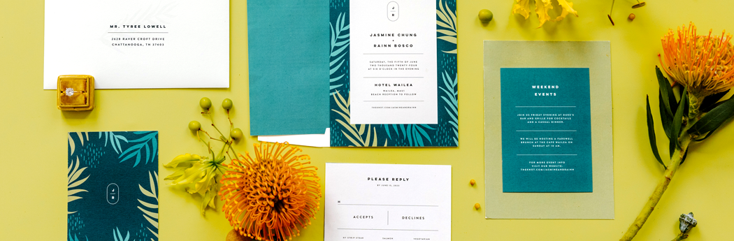 7 Stylish Wedding Invitations Our Editors Love Right Now