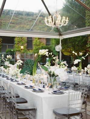 Modern Reception Décor with Calla Lilies at The Foundry in Long Island City, New York