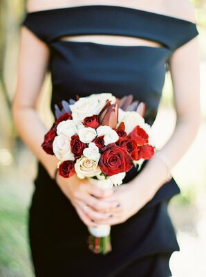 Crimson and Ivory Bouquets