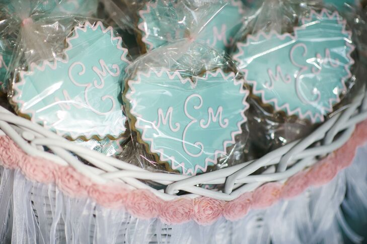 Monogramed Packaged Cookie Favors