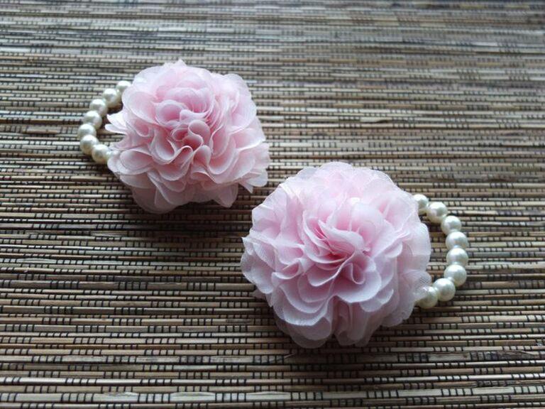 Floral bracelet flower girl gift