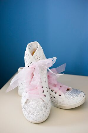 Swarovski Crystal-Detailed Casual Wedding Shoes