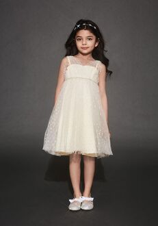 David's Bridal Flower Girl David's Bridal Style OP264 White Flower Girl Dress