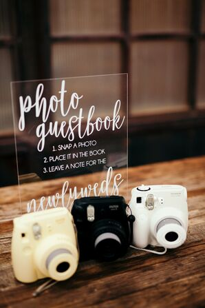 Polaroid Photo Guest Book with Retro Cameras