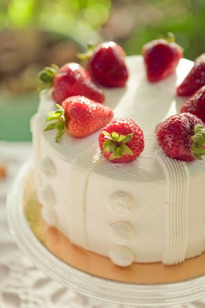 Wedding Cake with Strawberries