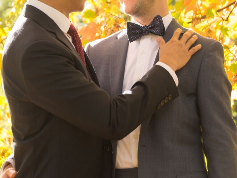 Same-sex couple on wedding day