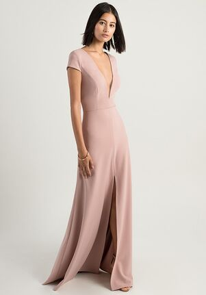 Jenny Yoo Collection (Maids) Cara V-Neck Bridesmaid Dress