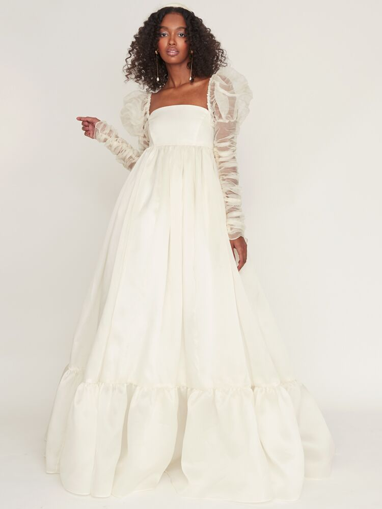 Odylyne The Ceremony silk organza ball gown with empire waist