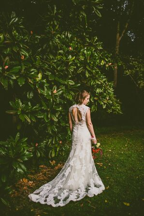 Open-Back Lace Wedding Dress