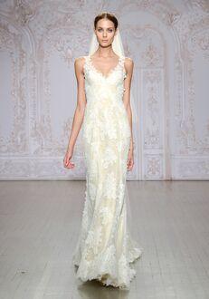 Monique Lhuillier Calla Sheath Wedding Dress