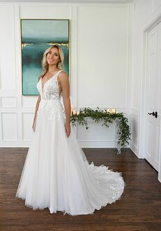Essense of Australia D3151 A-Line Wedding Dress