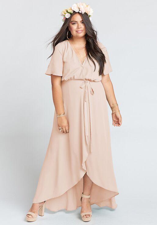 5c687815e1 Show Me Your Mumu Sophia Wrap Dress - Dusty Blush Crisp V-Neck Bridesmaid  Dress
