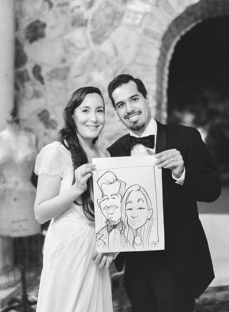Michelle and Michael's Caricature Wedding Favors