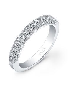 Uneek Fine Jewelry UWB016 White Gold Wedding Ring