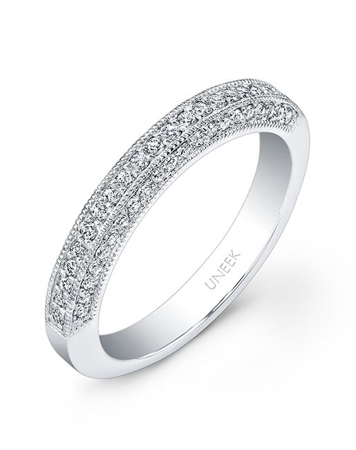 Uneek Fine Jewelry UWB016 White Gold Wedding Ring