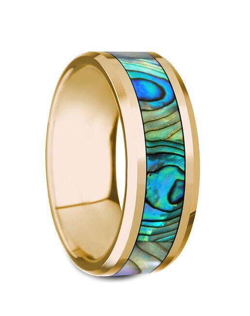 Mens Tungsten Wedding Bands G1279-YGRD Gold, Tungsten Wedding Ring