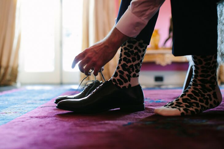 Animal Print Socks at California Wedding