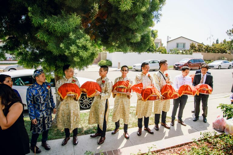 Processional during Vietnamese wedding