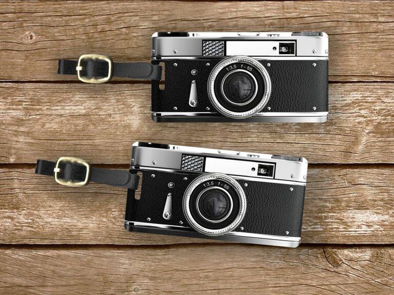 camera shaped luggage tags
