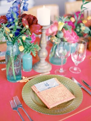 Tablescapes of Vintage Glassware and Romantic Candles