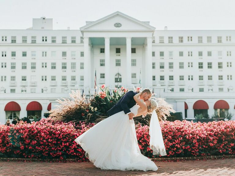 bride and groom Greenbrier