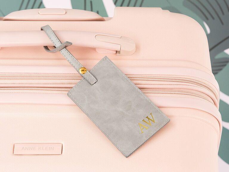 Monogram luggage tag wedding gift for bride