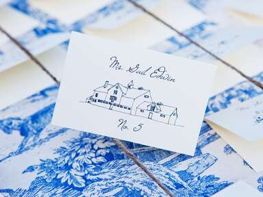 Custom illustration wedding escort card