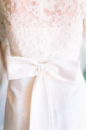 Custom Wedding Dress With Bow-Back Detail