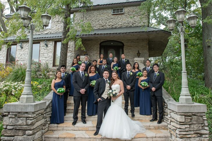 The Navy Wedding Party at Meyer's Castle