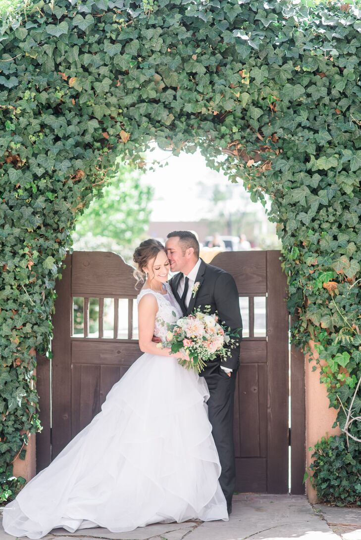 Tiered Organza Ball Gown with Lace Bodice