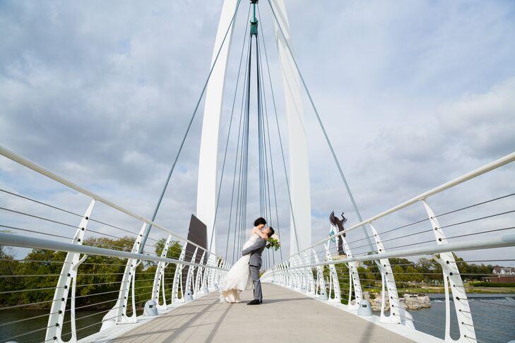Keeper of the Plains Bridge Couple Portraits