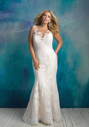 Allure Bridals W418 Sheath Wedding Dress