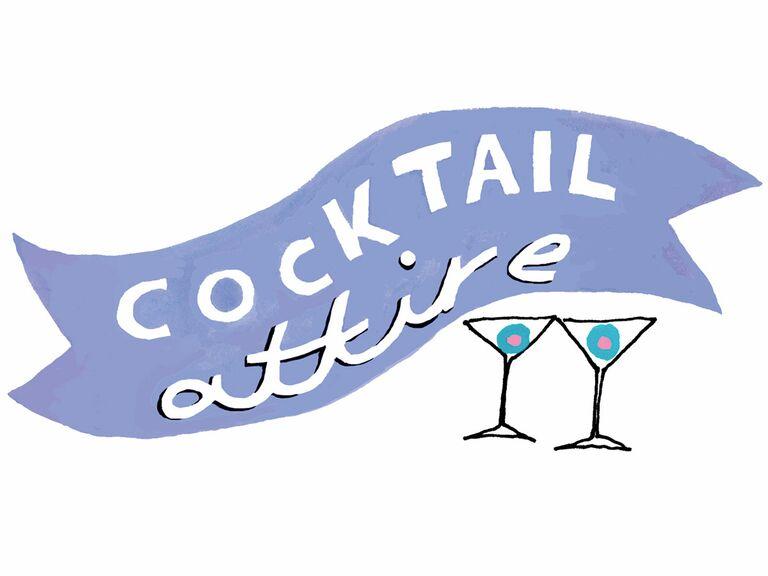 cocktail attire illustration