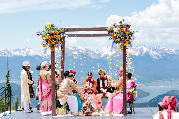 Hindu Mandap Overlooking the Rocky Mountains