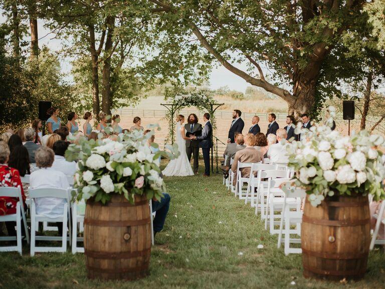 Wedding venue in Lancaster, Kentucky.