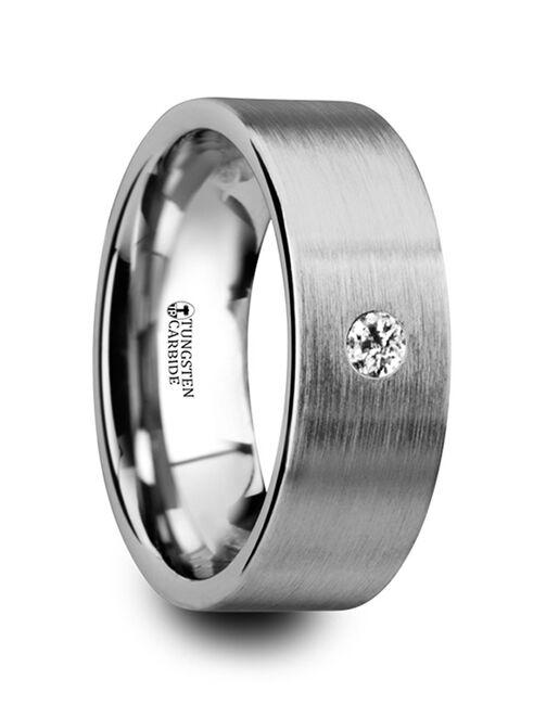 Mens Tungsten Wedding Bands W4278-FBWD Tungsten Wedding Ring