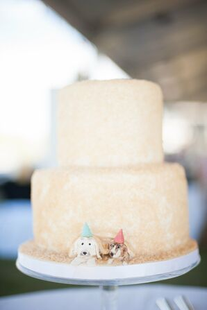 Simple Two-Tiered Cake with Pet Dog Detailing