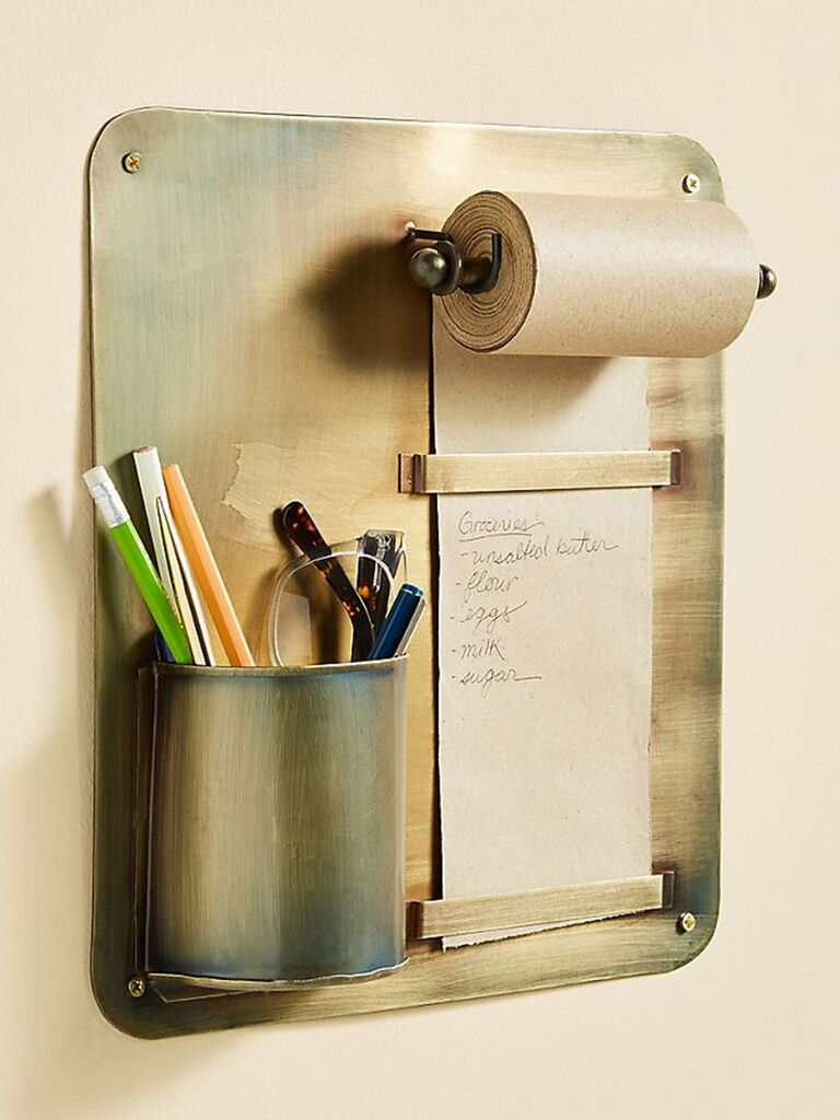 wall-mounted pencil holder 7th anniversary gift