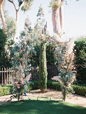 Earthy, Romantic Floral Wedding Arch