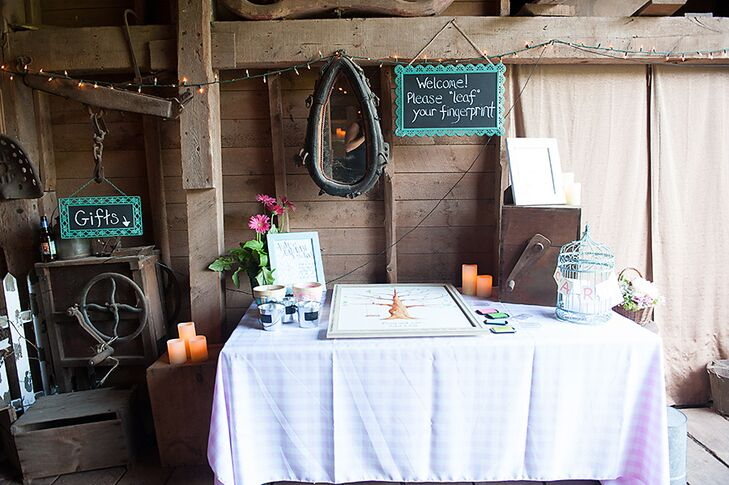 DIY, Rustic Guest Book and Cards Table