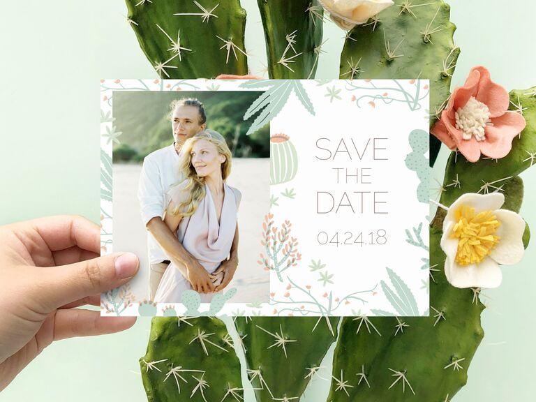 Mixbook cactus destination wedding save-the-date