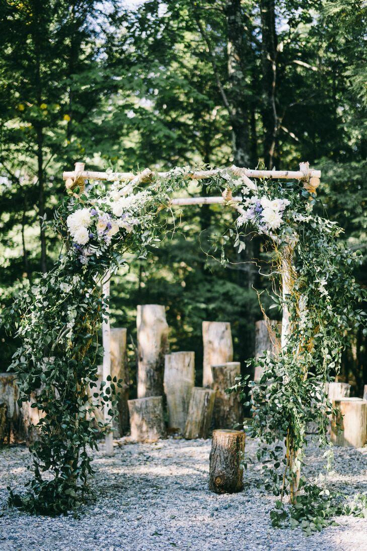Birchwood Altar with Greenery