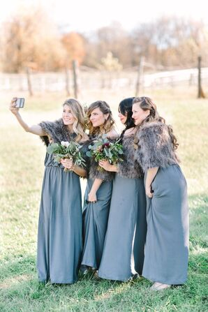 Affordable and Matching Bridesmaid Gowns