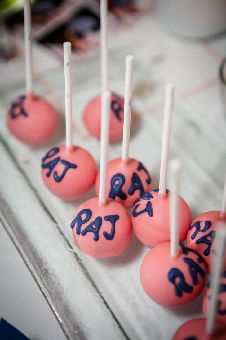 Pink Monogrammed Cake Balls