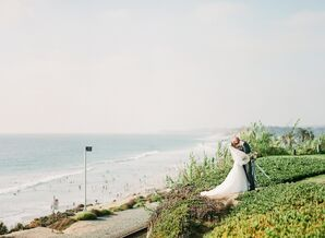Waterfront Photos of Bride and Groom