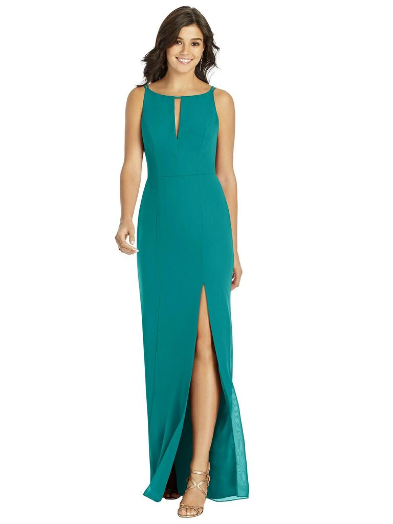 Jade green bridesmaid dress under $100