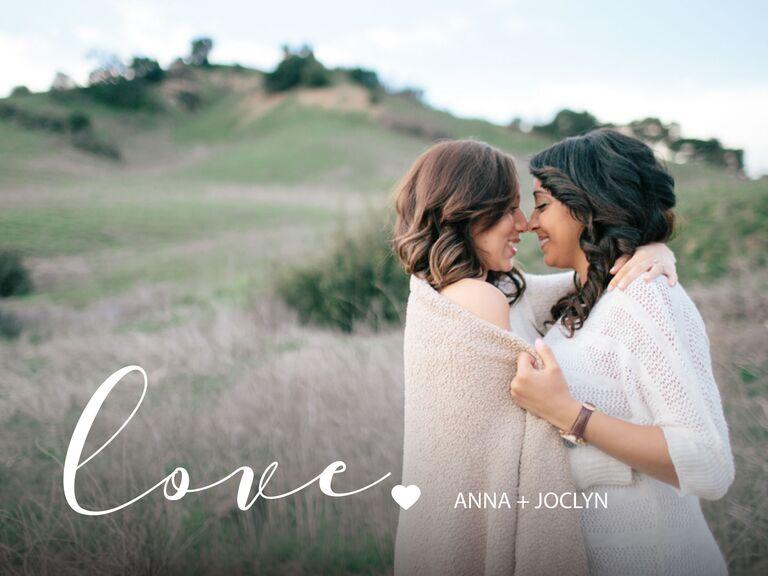 Love photo magnet gift idea