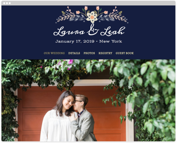Wildflower Crest Wedding Website Template, The Knot