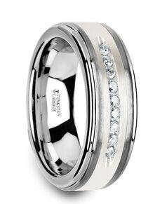 Mens Tungsten Wedding Bands W3924-TCSD Tungsten Wedding Ring
