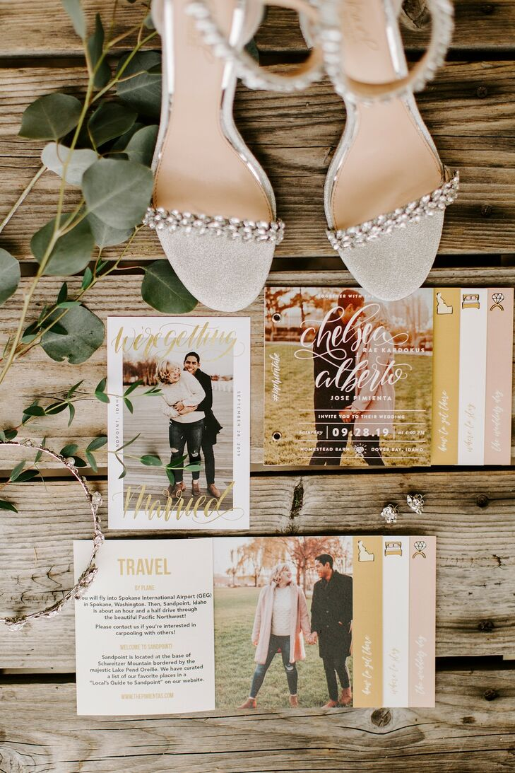 Rustic Paper Goods with Photographs and Calligraphy